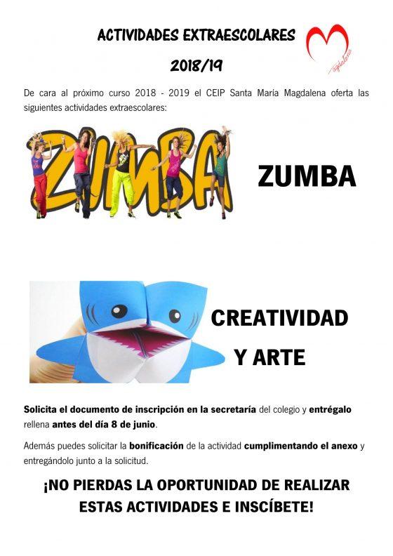 ACTIVIDADES EXTRAESCOLARES 2018-2019