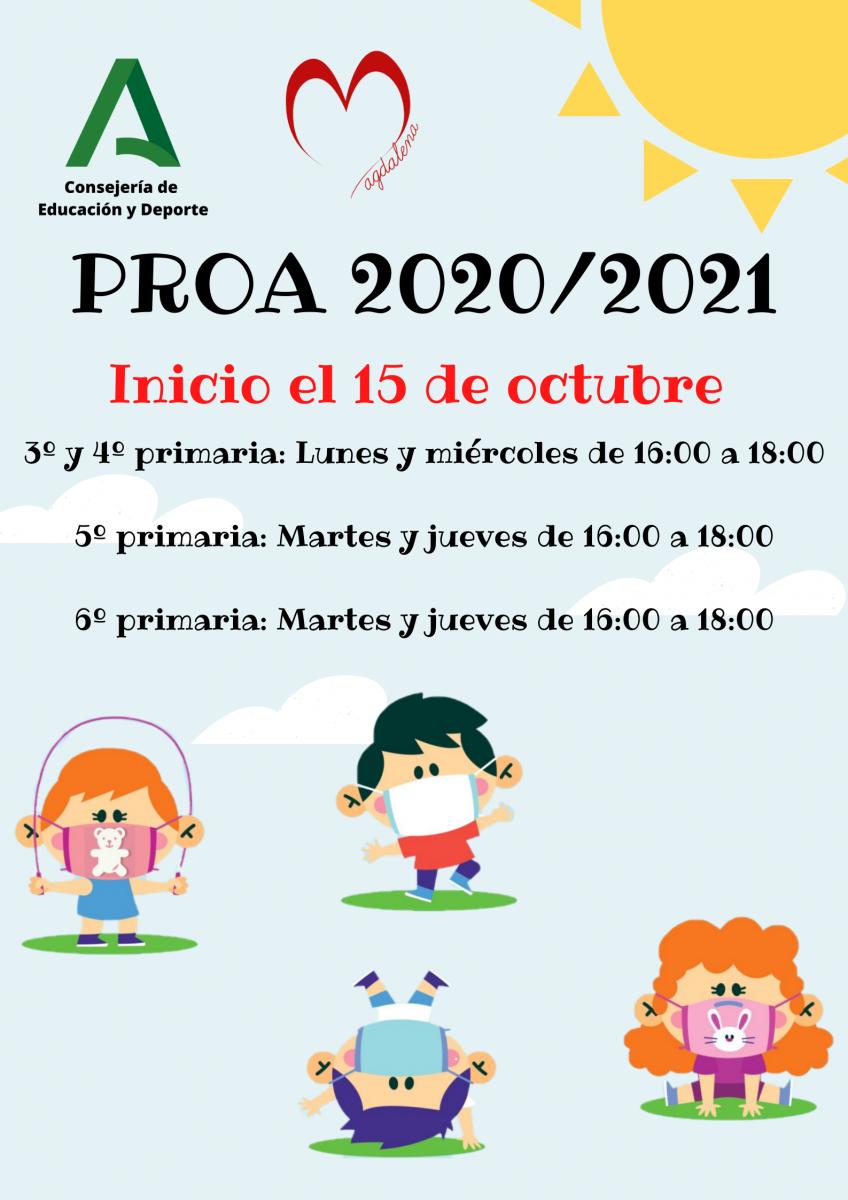 COMIENZO DEL PROGRAMA DE ACOMPAÑAMIENTO ESCOLAR (PROA) 2020/2021.