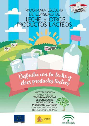 Plan Escolar de consumo de leche y otros productos lácteos para el curso académico 2020/2021.