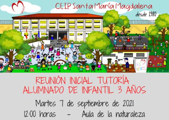 REUNIÓN INICIAL ALUMNADO EDUCACIÓN INFANTIL 3 AÑOS