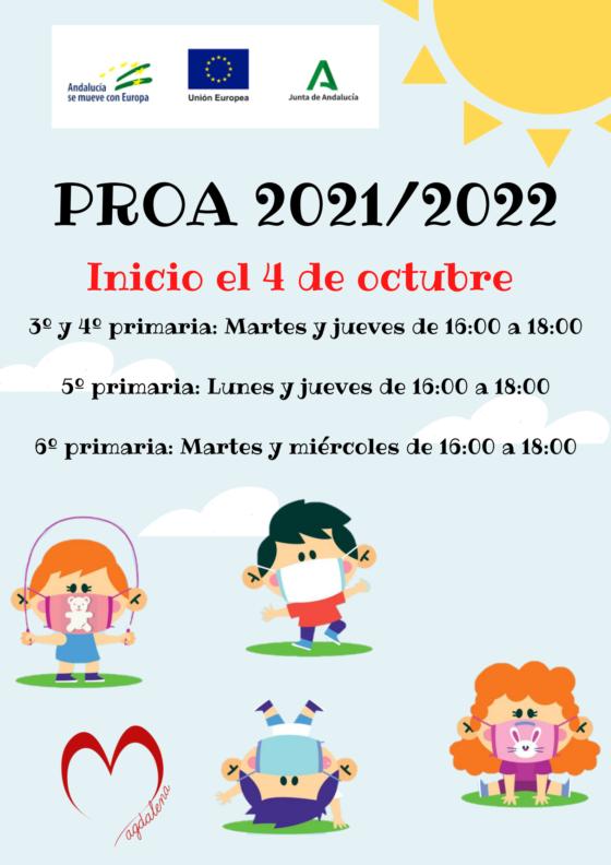 PROGRAMA DE ACOMPAÑAMIENTO ESCOLAR (PROA) 2021-2022